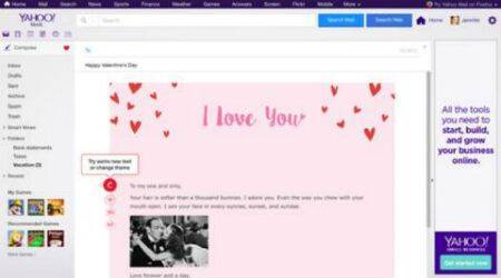 Valentines Day, Yahoo, Yahoo Valentine features, Yahoo heart GIFs, Yahoo Valentine mails, Yahoo new feature, technology, technology news