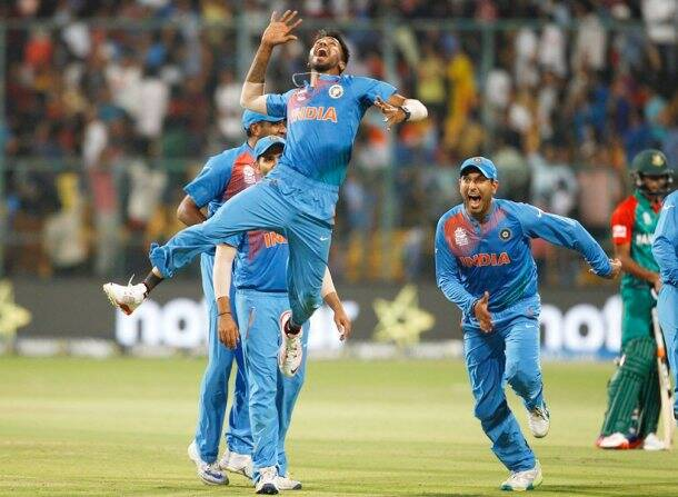 Hardik Pandya, Yuvraj Singh, Chinnaswamy Stadium, Bangalore, india vs bangladesh, india vs bangladesh, cricket photos