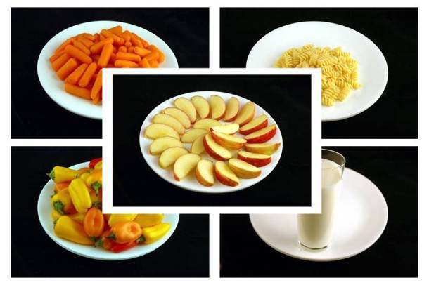 What do 200 calories of different foods look like?