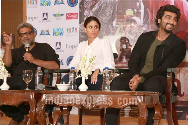 kareena kapoor, kareena kapoor khan, ki and ka, arjun kapoor, r balki, ki and ka conference, kareena kapoor press conference, ki and ka images, kareena kapoor pics, kareena kapoor arjun kapoor pics, arjun kapoor pics, kareena arjun pics, entertainment