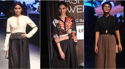 aditi rao hydari, lakme fashion week, shriya saran, kira rao, lakme fashion week pics, preeti desai, aditi rao hydari pics, aditi rao hydari lakme fashion week, shriya saran lakme fashion week, shriya saran pics, entertainment