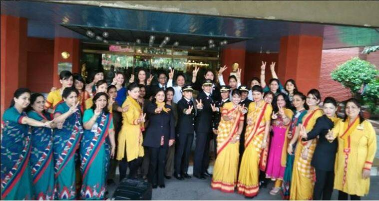 air india, all women flight, women day, international womens day, air india delhi san Francisco, ai delhi san francisco flight, india news, latest news