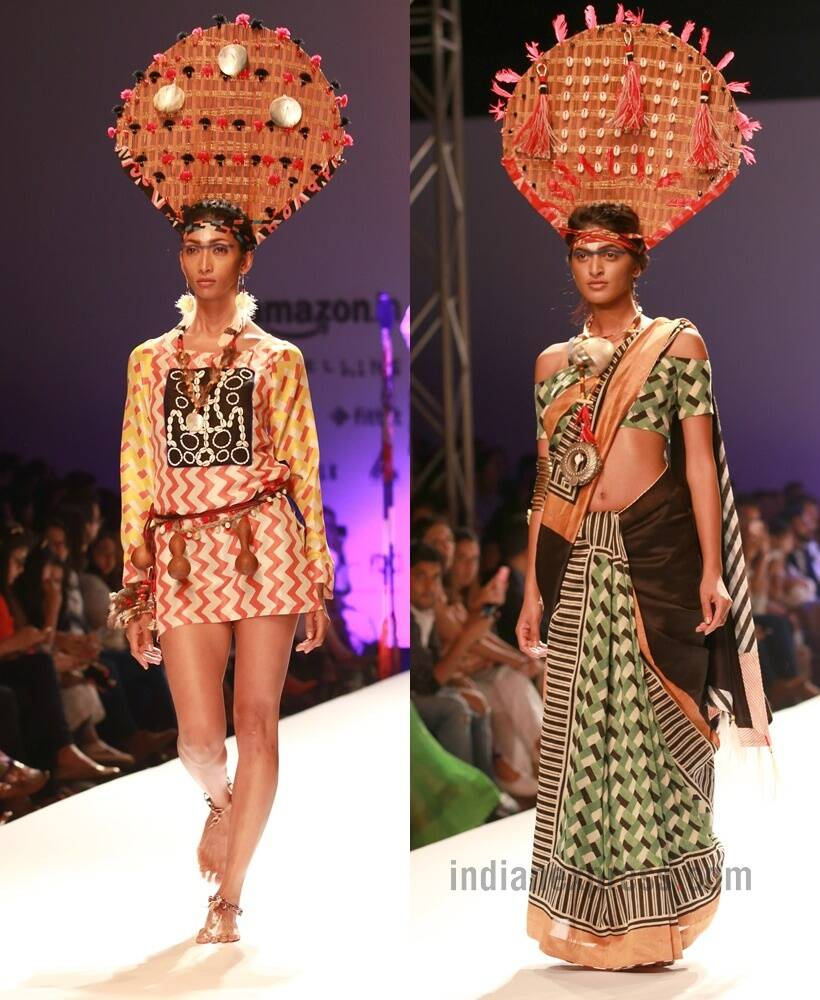 6d192aa895 ... to yellow to orange to blue and black comprised dresses, skirts,  tunics, kaftans, crop tops, asymmetric shirts and sarees. (Text: PTI/Photo:  APH Images)