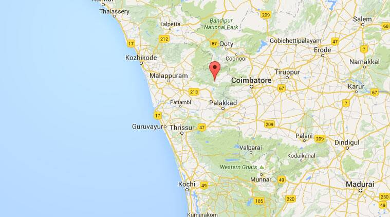 Attappady region, Kerala. (Source: Google Maps)