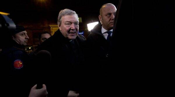 Australian Cardinal George Pell arrives the Quirinale hotel in Rome to testify via videolink from the Rome hotel to the Royal Commission sitting in Sydney. AP Photo