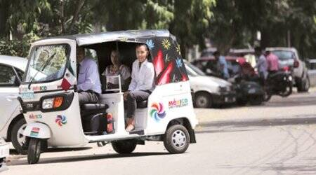 One solution for Delhi's air problem: Autorickshaw with diplomatic plate