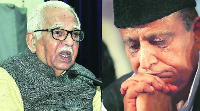 Minister Azam Khan (right) had accused the Governor of working under 'influence of a particular party'