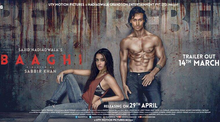baaghi, baaghi poster, shraddha kapoor, tiger shroff, shraddha kapoor tiger shroff, shraddha tiger, shraddha kapoor baaghi, tiger shroff baaghi, baaghi first poster, baaghi news, entertainment news
