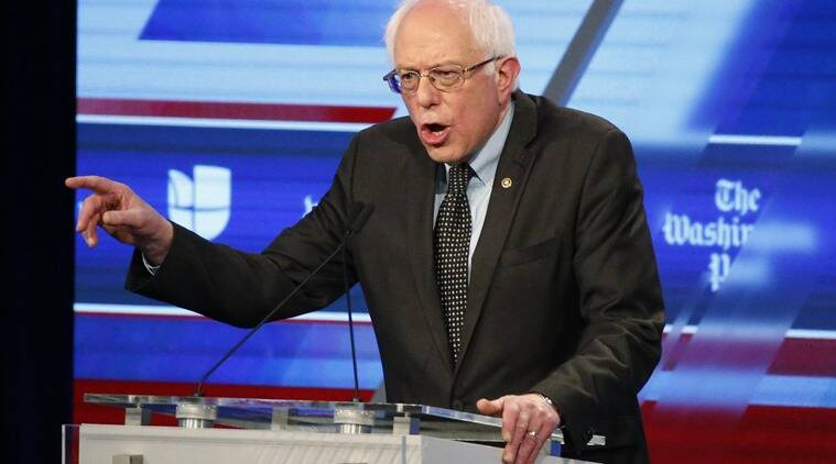 US Senator, Bernie Sanders, Presidential candidates, Miami Dade college debate, Sanders-Clinton debate, Democratic debate, US elections, Presidential elections, Presidential race, US news