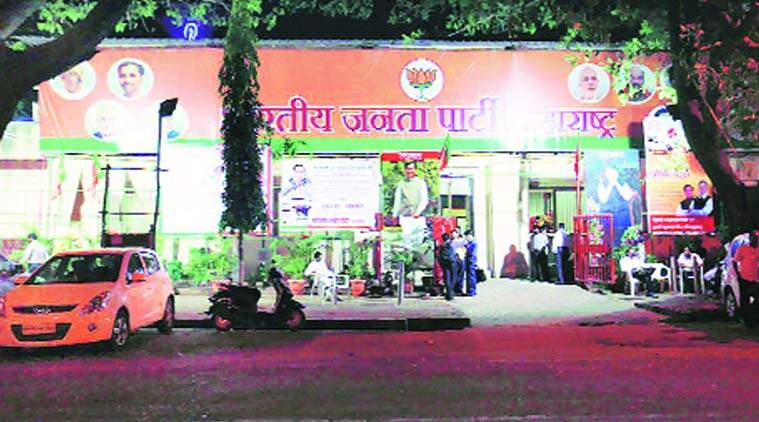 The BJP office at Nariman Point. File photo