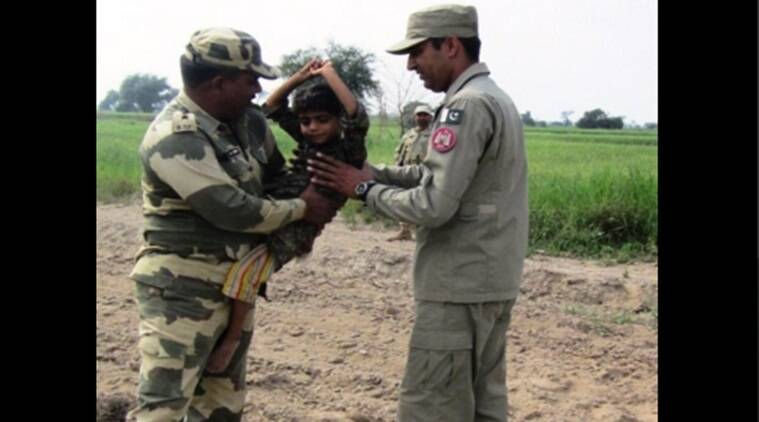 BSF hands over 5 yr old deaf and dumb girl to Pak Rangers after she inadvertently crossed over in Abohar sector.