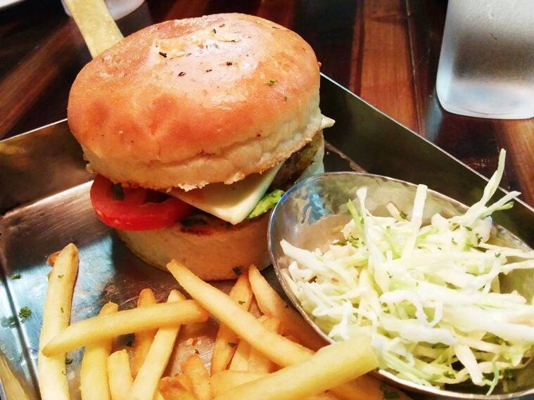 WAATT The FISH Burger at City Socialite. (Photo: Deekshita Baruah)