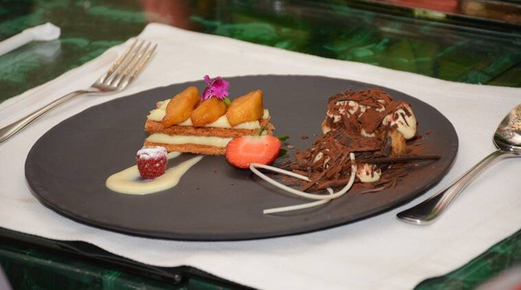 The Caramelised Apple Tart is surprisingly light and the Deconstructed Tiramisu is an airy assembly of Espresso Granita, Espresso jelly with Saviodri Biscuit, Raspberry Pate De Fruit and Chocolate Brush.