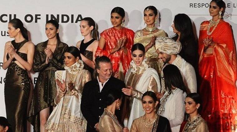 Rohit Bal's collection at the Make In India Week. (Photo: Instagram/Rohit Bal)