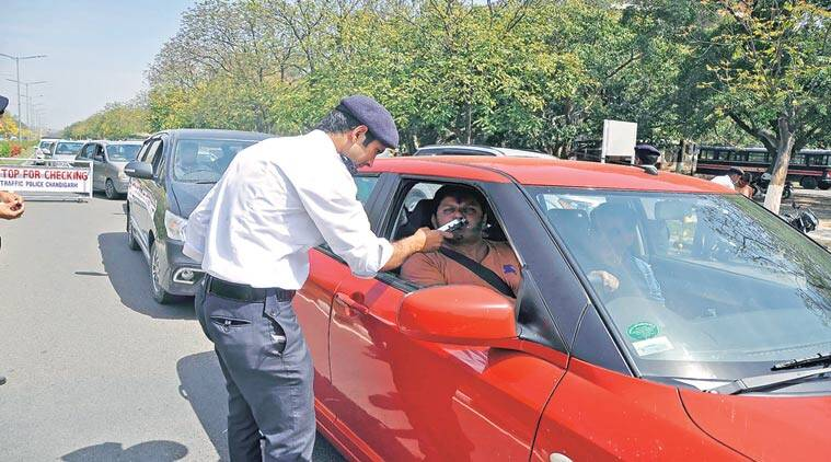 chandigarh, chandigarh news, chandigarh challan, traffic rules, traffic fine, chandigarh traffic challan system, indian express