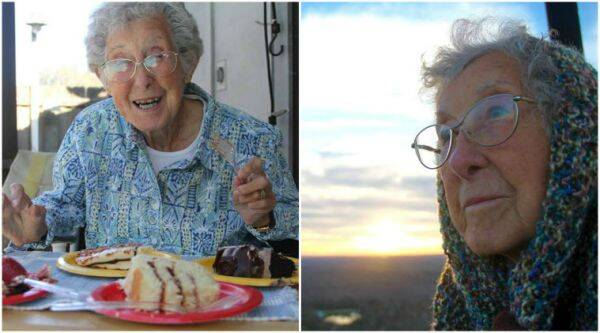 Norma, 90-year-old Michigan based woman chose travel over treatment/ Facebook