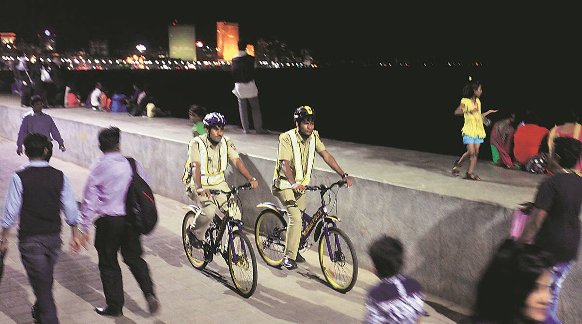 Pune City Police cycle patrol