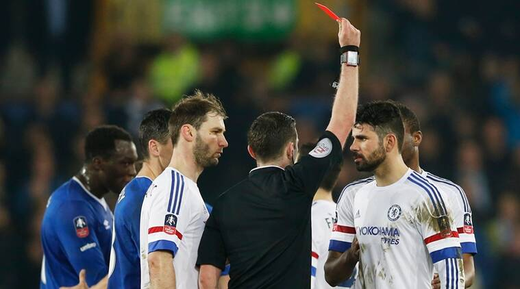 FA Cup, FA Cup updates, FA Cup News, FA Cup scores, Diego Costa, Costa red card, Costa send off, Chelsea vs Everton, Everton vs Chelsea, sports news, sports, football news, Footbal