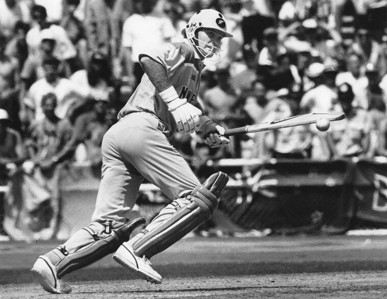 In this February 24, 1992 photo, Martin Crowe, captain of new Zealand cricket team, bats during a match at Eden Park, in Auckland New Zealand. AP Photo