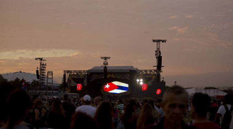 Rolling Stones, Cuba, Rolling Stones concert, Rolling Stones Cuba concert, Rolling Stones Havana concert, Havana rock concert, Cuba rock concert, US Cuba affairs, Indian Express, World news
