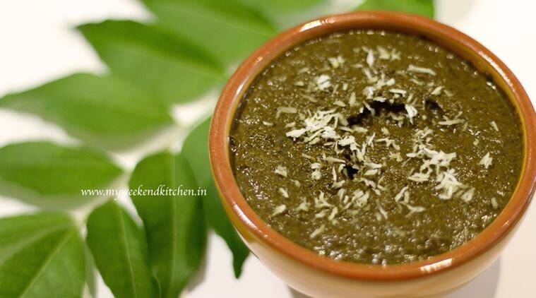 curry leaves and coconut chutney 2