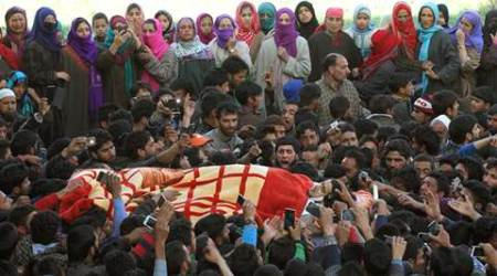 Thousands turn up for funeral of slain militant Dawood Sheikh in southKashmir