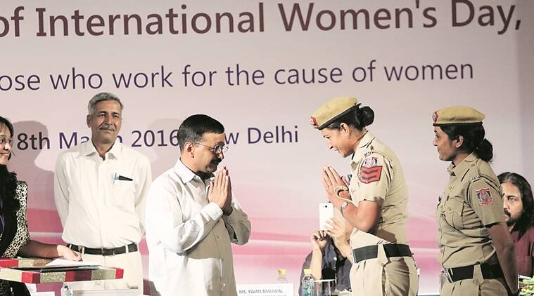 DCW, DCW event, Delhi Commission for Women, Delhi Commission for Women  event, International Women's Day, award ceremony at DCW event, women felicitatation, delhi news, arvind kejriwal, women security, india news