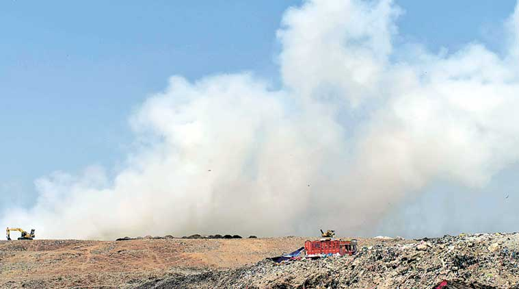 Deonar Fire, Deonar dumping ground fire, Mumbai dumping ground fire, Mumbai Deonar fire, Mumbai fire, Shiv Sena, BJP, Mumbai news, India news, Indian Express