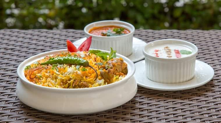Chicken biryani as part of the Indian spread at Bayleaf in Bengaluru.