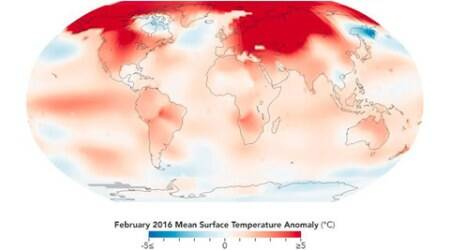 February 2016 was the warmest February in 136 years: NASAreport
