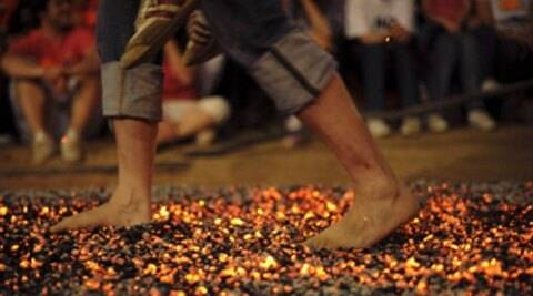 Image result for Firewalking indian express