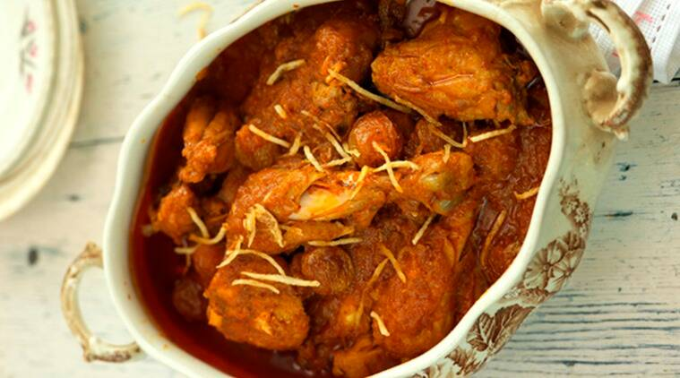 The Jardaloo Ma Marghi from Rustom's Parsi Bhonu include apricots, which add sweetnees to the mildly-spiced gravy. (Photo: Bharat Bhirangi)