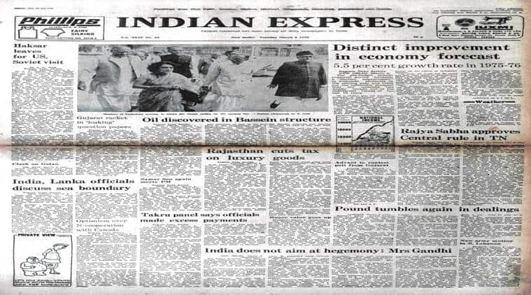 forty years ago, march 8 1976, indian express forty years ago, L K advani, RSS< rajya sabha, rajya sabha elections, indira gandhi, PN haskar, indian express