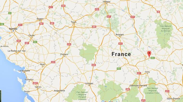 Montebeugny area in France. (Source: Google Maps)