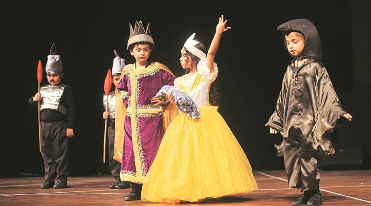 Tiny Tots of the Learning Path School perform during their annual function at Tagore theatre in Chandigarh on Wednesday, March 09 206. Express photo by Jasbir Malhi