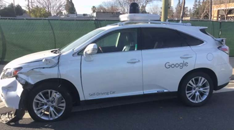 Google, Google self-driving car, Google self-driving car accident, Google car accident, Google accident video, Google self-driving car accident video, Car accident video