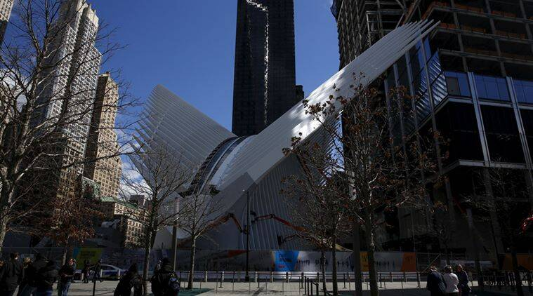 """The Oculus structure of the World Trade Center Transportation Hub is pictured as people visit the World Trade Center site, formerly known as """"Ground Zero"""" in New York. Reuters"""
