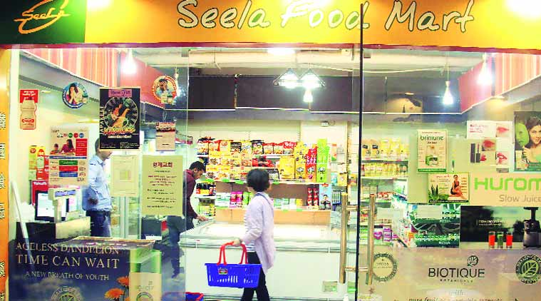 Korean grocery store Seela Food Mart. Source: Express Photo by Manoj Kumar