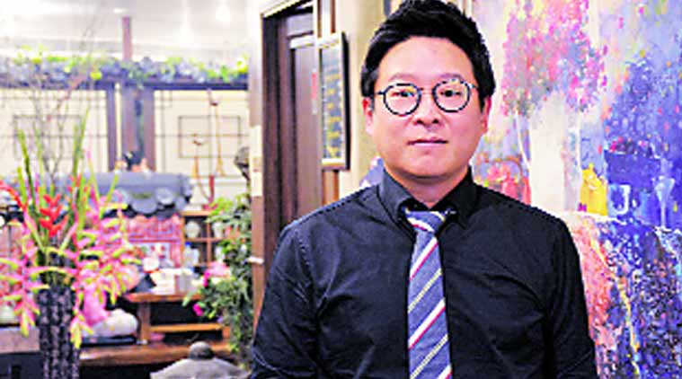 Gung The Palace's owner Kim Jin Bum Source: Express Photo by Manoj Kumar