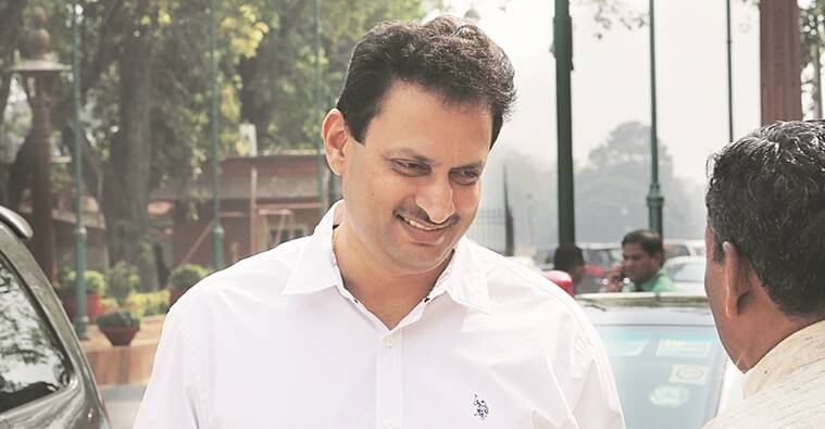 BJP MP Ananth Kumar Hegde at parliament house in new delhi on thursday.Express photo by Anil Sharma.