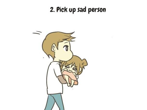 This artist's guide on how to care for a sad person