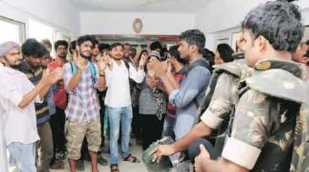 University of Hyderabad students barred from exam over protests
