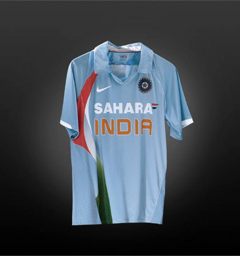 007f0a75a 2007- The jersey that no proud Indian cricket fan would want in their  closet. For it will always be associated with that defining image of the  shock World ...