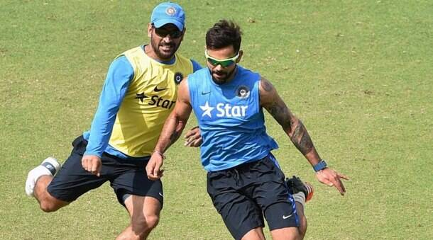MS Dhoni, MS Dhoni India, Virat Kohli, Dhoni Kohli, Virat Dhoni, India vs Australia, Ind vs Aus, India Australia, India practice, cricket photos
