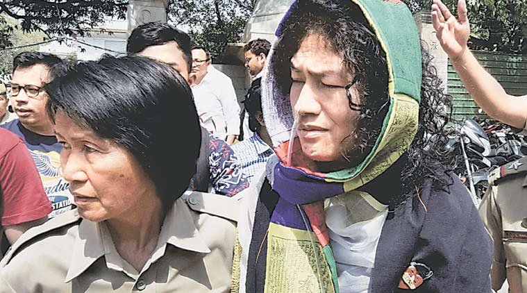 Irom Sharmila, AFSPA, irom sharmila fast, irom sharmila hunger strike, Irom Sharmila acquitted, Armed Forces Special Powers Act, Sharmila suicide trial, Sharmila hunger strike, Sharmila AFSPA protest, Sharmila AFSPA hunger strike, Sharmila suicide case, Delhi news, India news