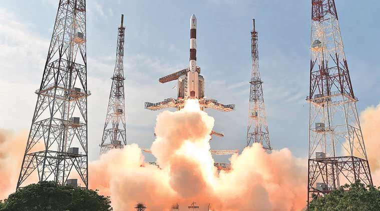 ISRO's PSLV C-32 carrying navigation satellite IRNSS-1F lifts off successfully from the Satish Dhawan Space Centre, Sriharikota in Andhra Pradesh on Thursday. (Source: PTI)