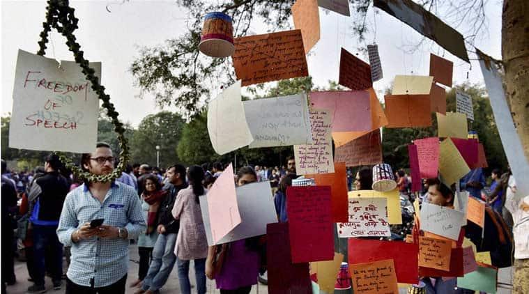 JNU row, JNU protest, ABVP, JNU verses ABVP, JNSU, kanhaiya kumar, nationalism class, delhi news, india news