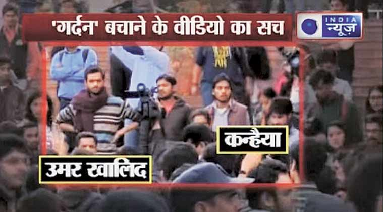 In one JNU video, lips of purported speakers did not sync with what the audio said.