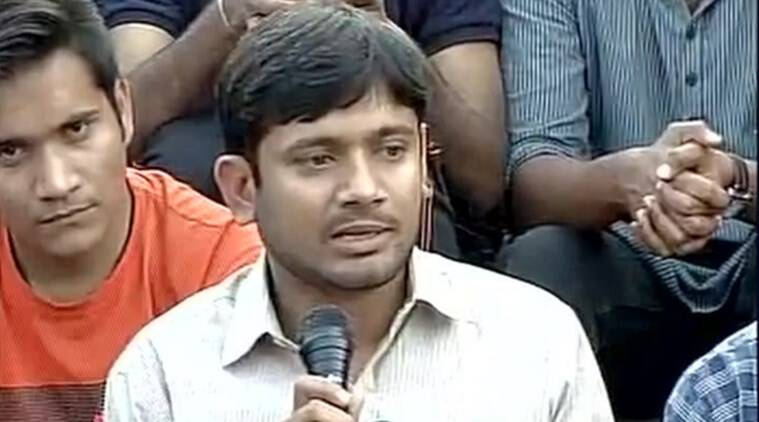 JNUSU President Kanhaiya Kumar during a press conference in JNU.