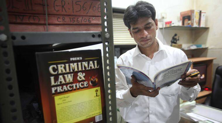 Advocate Khalid Azmi at his office at Kurla in Mumbai. Express Photo by Pradip Das. 19.10.2013. Mumbai.